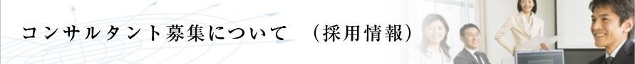 コンサルタント募集について(採用情報)