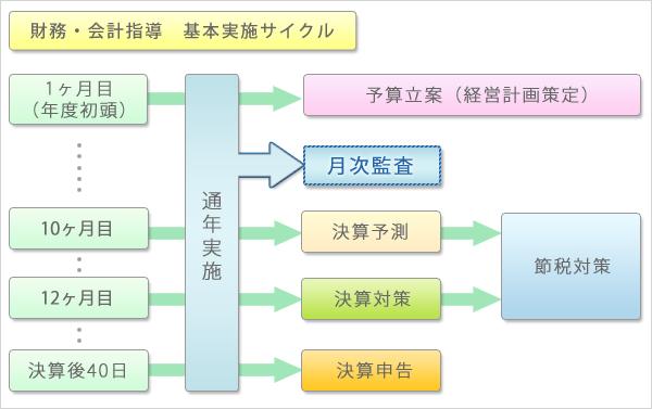 財務・会計指導 基本実施サイクル